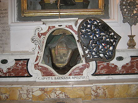 Глава апостола Варнавы. Конка-дей-Марини (Италия)